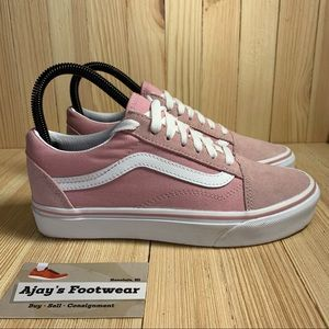 Vans Women's Old Skool Skate Pink Suede Shoes